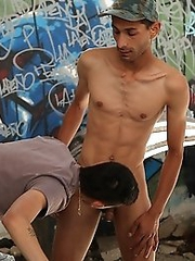 two hot gypsy fuck in the alley