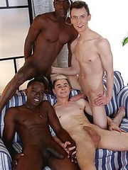 Two horny white bois get blacked � And one gets his cute, hungry ass double-dicked!